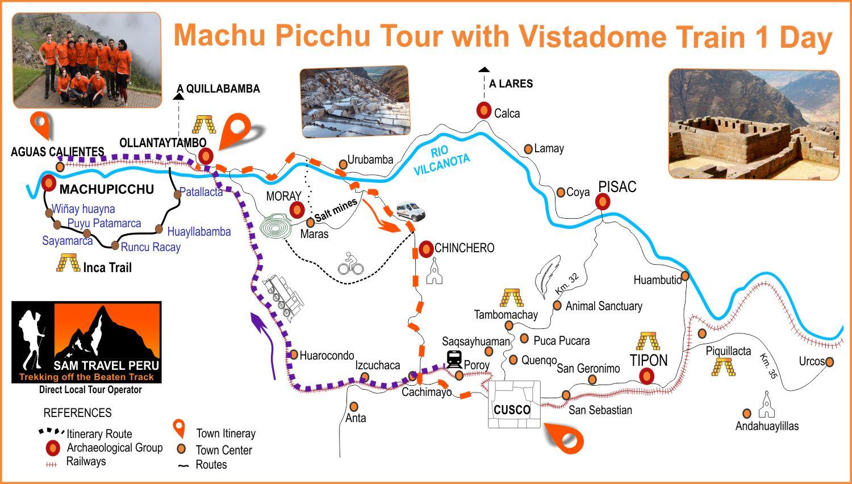 Machu Picchu Tour with Vistadome Train 1 Day
