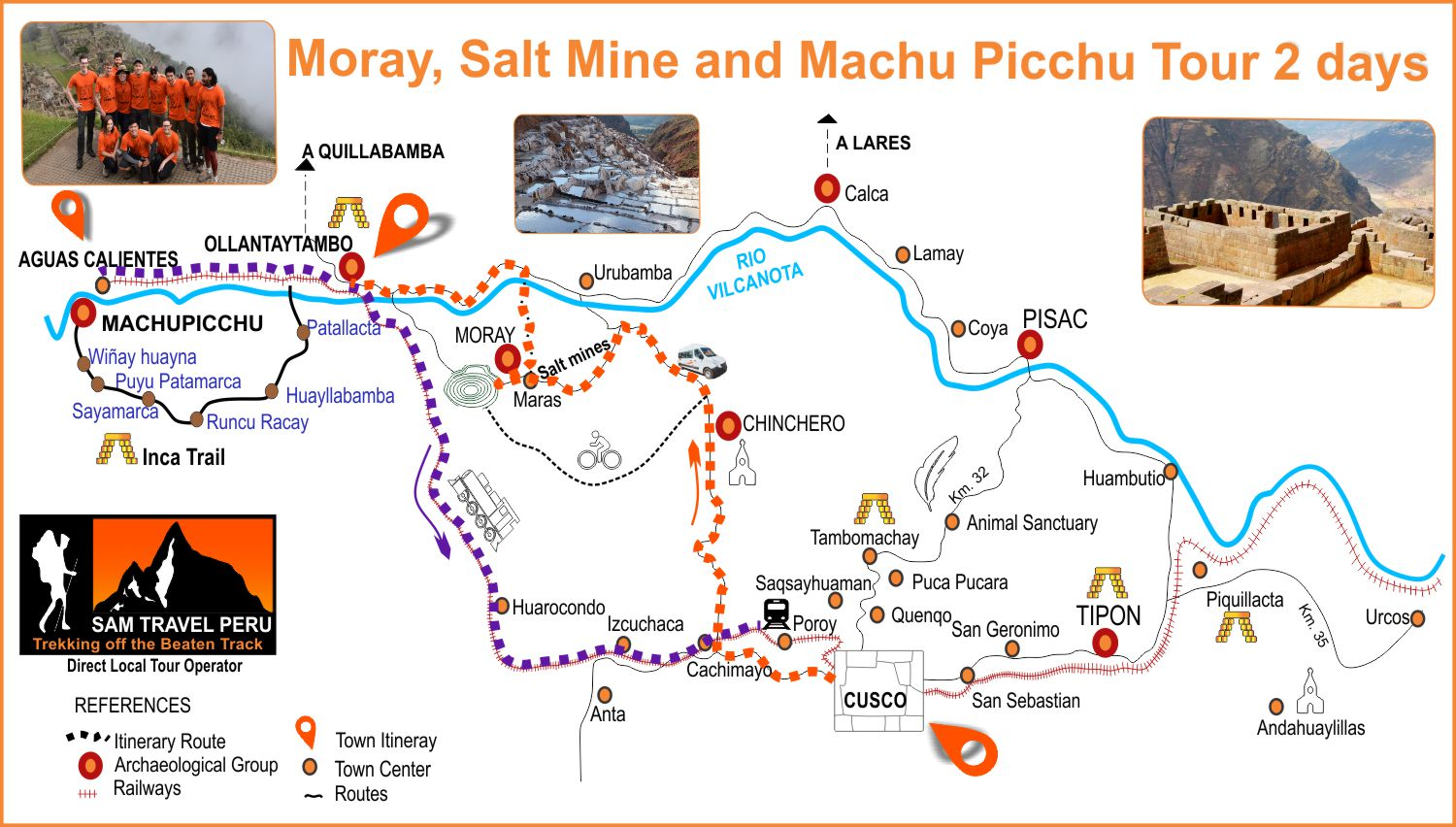 Moray Salt Mine and Machu Picchu Tour 2 days