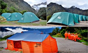 our tents and campsite sam travel peru