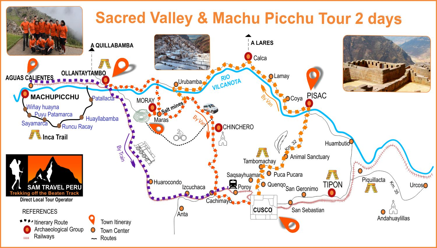 Sacred Valley & Machu Picchu Tour 2 days