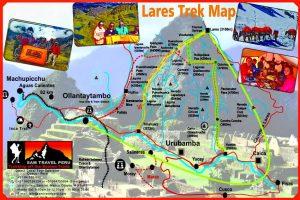 Lares trek to Machu Picchu map