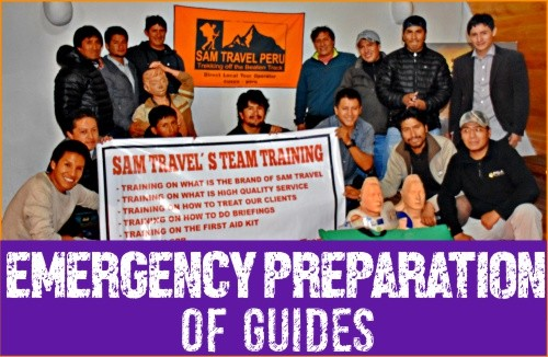 emergency-Preparation-of-Guides-sam-travel-peru-first-safety-to-treks