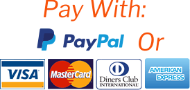 Pay with Paypal or Visa, Mastercard