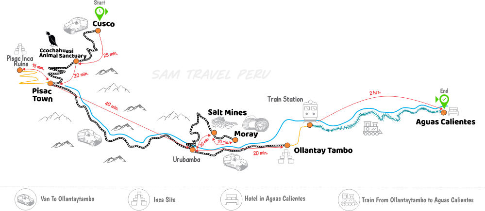 Sacred Valley Machu Picchu Tour Pisac Ruins Moray Salt Mines Usa - Us-salt-mines-map