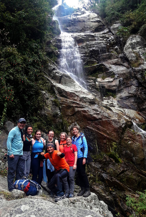 water fall 2 days inca trail