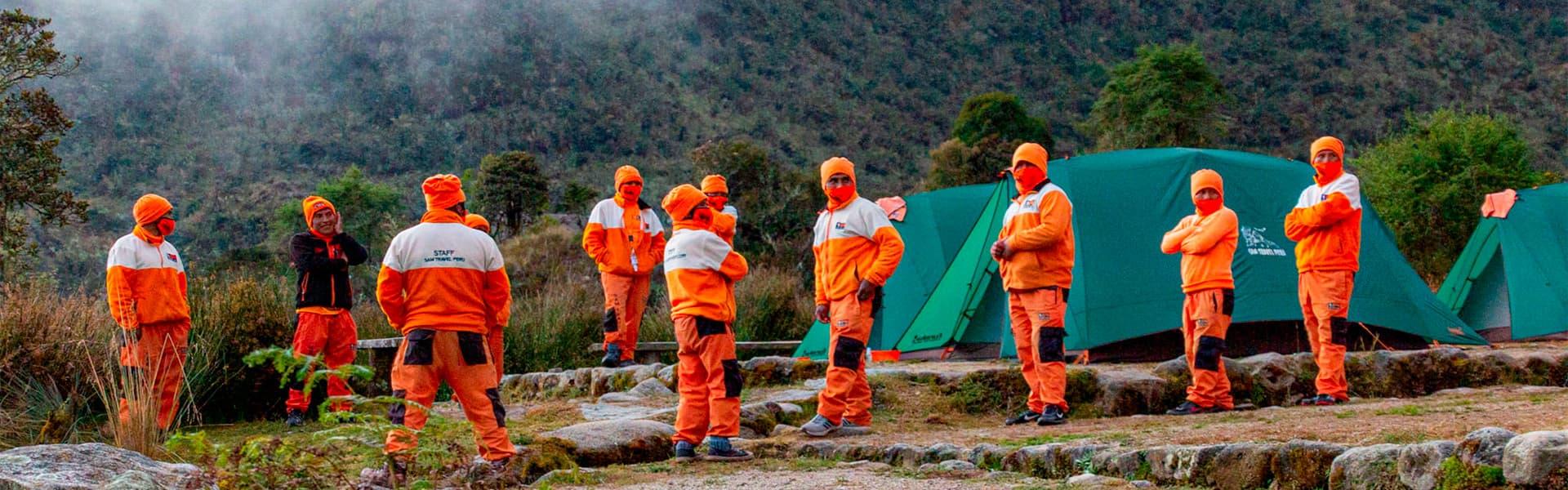 Inca trail To Machu Picchu porters