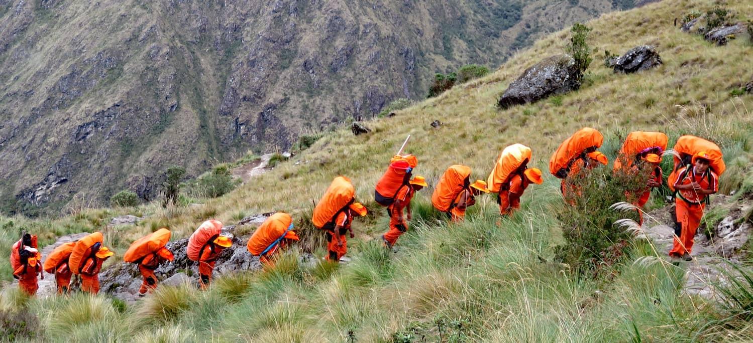 Inca trail porters 4 days